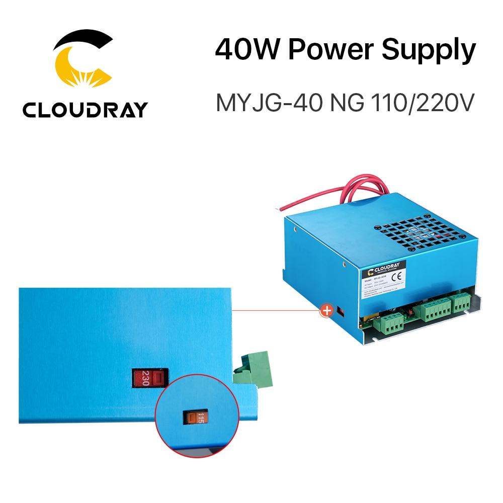 Alimentatore laser a CO2 Cloudray 40W MYJG-40T 110V 220V per macchina - Parti di macchine per la lavorazione del legno - Fotografia 5