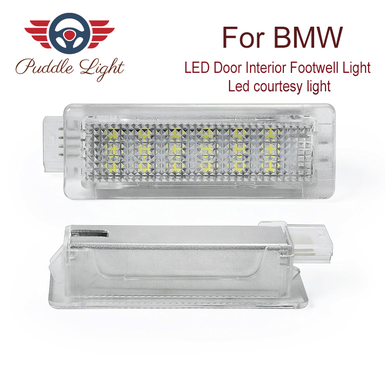 2x 18smd <font><b>LED</b></font> Door Interior Footwell Light <font><b>Led</b></font> courtesy light CAR Styling For BMW F01N/F02N/F03N F30 <font><b>F31</b></font> F32 F34 F10LCI F11LCI image
