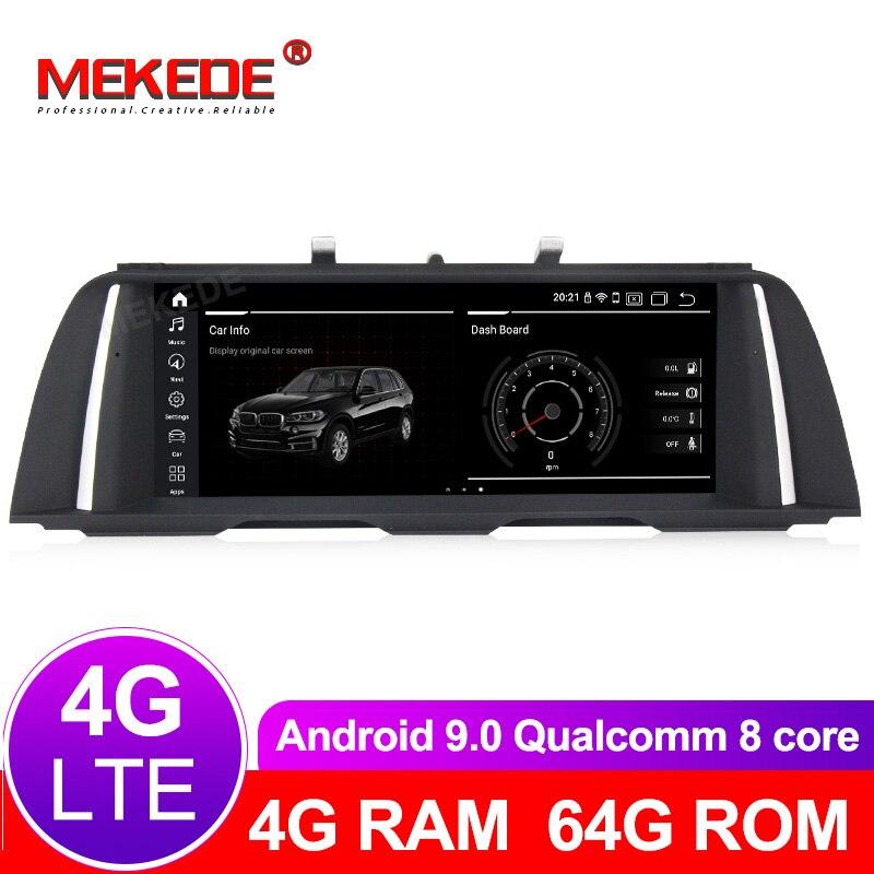 Núcleos 8 64 4G + G android Leitor multimédia 9.0 Carro de Navegação GPS de rádio para BMW Série 5 F10 /F11/520 (2011-2017) CIC/NBT com 4G