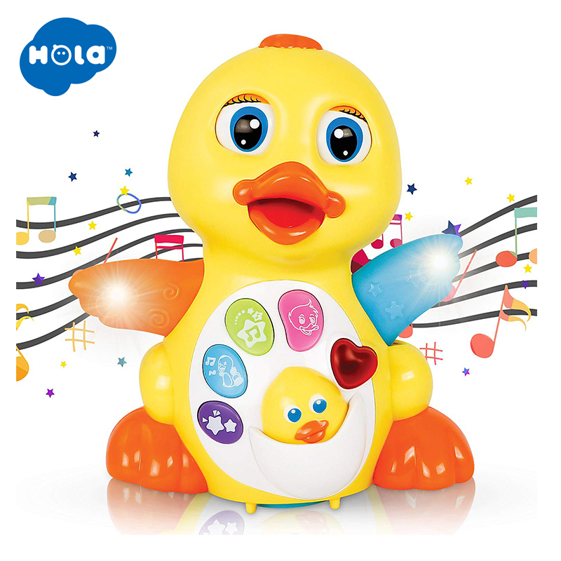HOLA 808 Musical Toys For Baby 13-24 Months Dancing Duck Interactive Toys For Toddlers Early Learning Educational Toy Kids Gifts