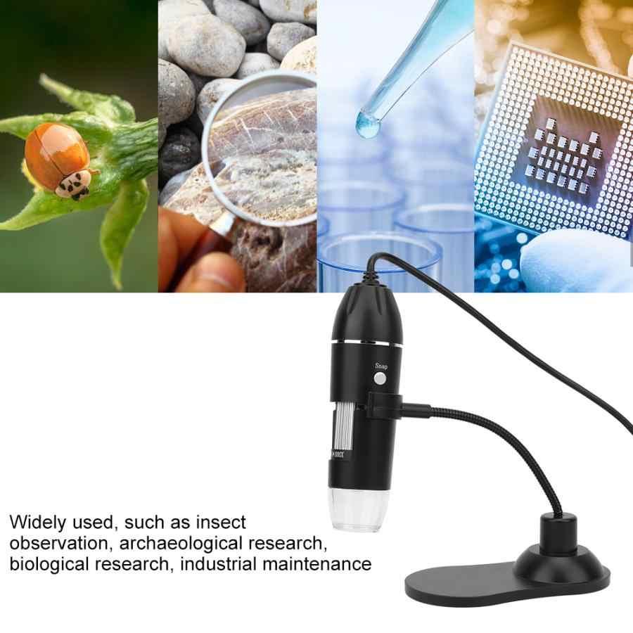 LED 50X-1000X USB กล้องจุลทรรศน์ดิจิตอลกล้องจุลทรรศน์อิเล็กทรอนิกส์พร้อม Bracket กล้องจุลทรรศน์