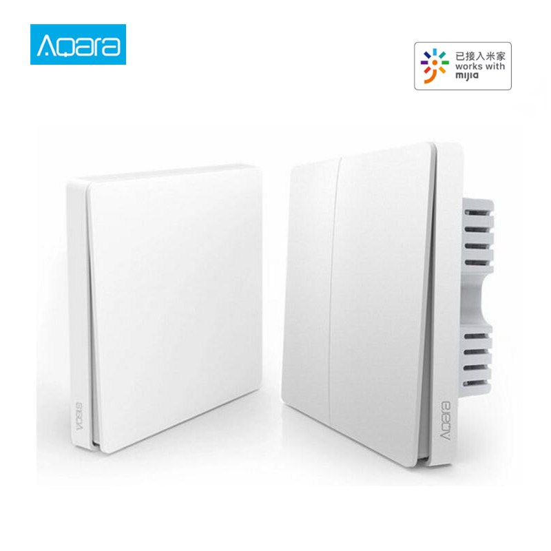 Aqara Wall Switch ZigBee Fire Wire And Zero Line Light Remote Control Wireless Key Wall Switch Without Neutral Mi Home
