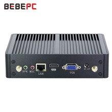 Bebepcファンレスミニpcインテルコアi3 7100U 4010Y i5 5287U 4200U 8 usb wifi hdmi vga minipc nuc htpc DDR3Lデスクトップゲーミングpc
