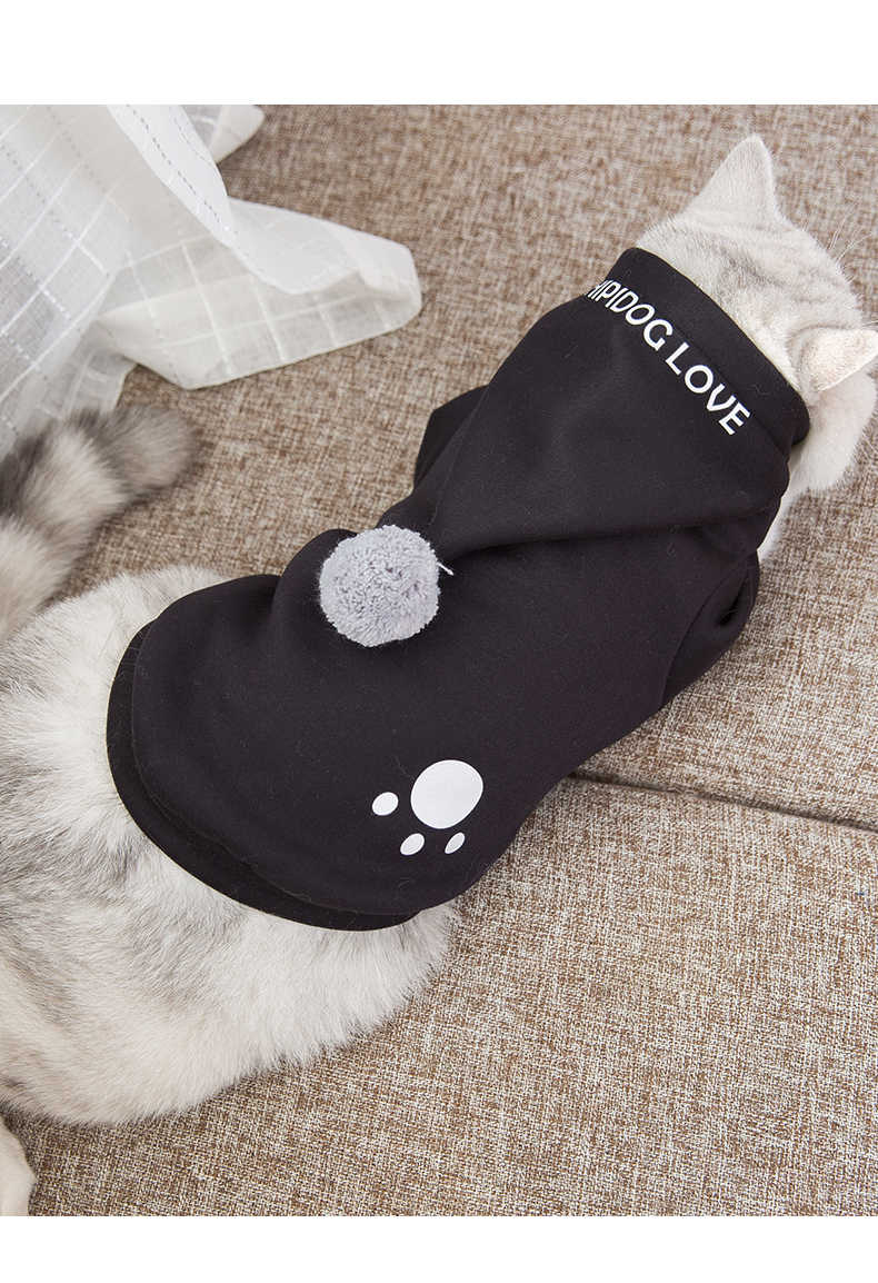 Hoodies kostüm kediler giyim noel kedi noel kazak elbise kış evcil Chaquetas Para Gatos evcil hayvan ürünleri OO50WY