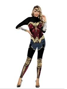 Image 3 - Wonder Woman Costumi Delle Donne Supereroe Diana Costume Costume di Halloween per Le Donne Vestito Sexy Diana Carnevale Cosplay disfraz mujer
