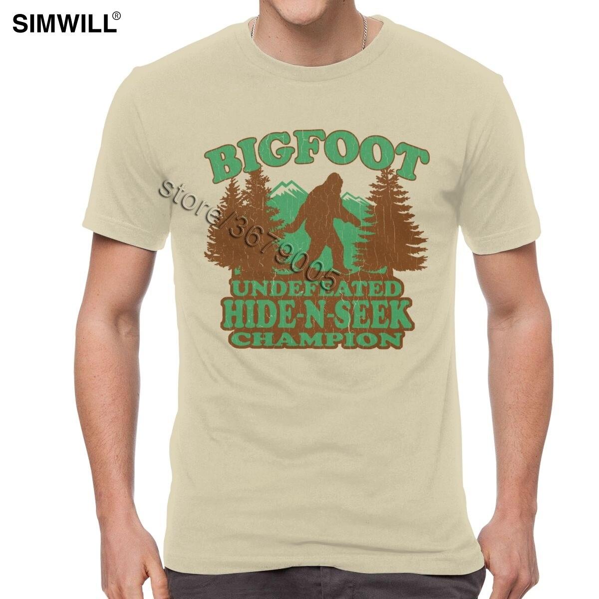 Big Foot Undefeated Hide /& Seek Champion Vintage Men T-Shirt Cotton S-6XL