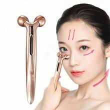 3D роликовый массажный V подтягивающий кожу, формирующий форму тела, средство для удаления морщин, микротоковый массажер для глаз и лица, портативный инструмент для красоты