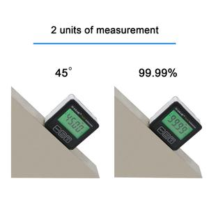 Image 3 - SHAHE Aluminum alloy Digital Protractor Inclinometer Level box Digital Angle Finder Bevel Box with Bottom built in magnet
