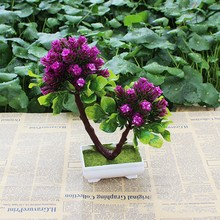 Landscape Tree Simulation Small Bonsai Pot Home Furnishing Garden Plants Table Top Decor Factory Direct Office Hot Sale