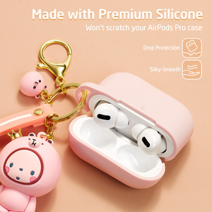 Image 2 - ESR Cartoon Case for AirPods Pro Soft Slim Silicone Charging Cover Shockproof Case with Cute Monkey Keychain for AirPods 3 2019