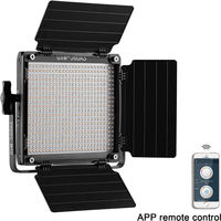 GVM 560AS Bi Color LED Photographic Lighting Video Studio Light 560 LED Lamp Panel Kit Barndoor App Remote Digital Adjustable