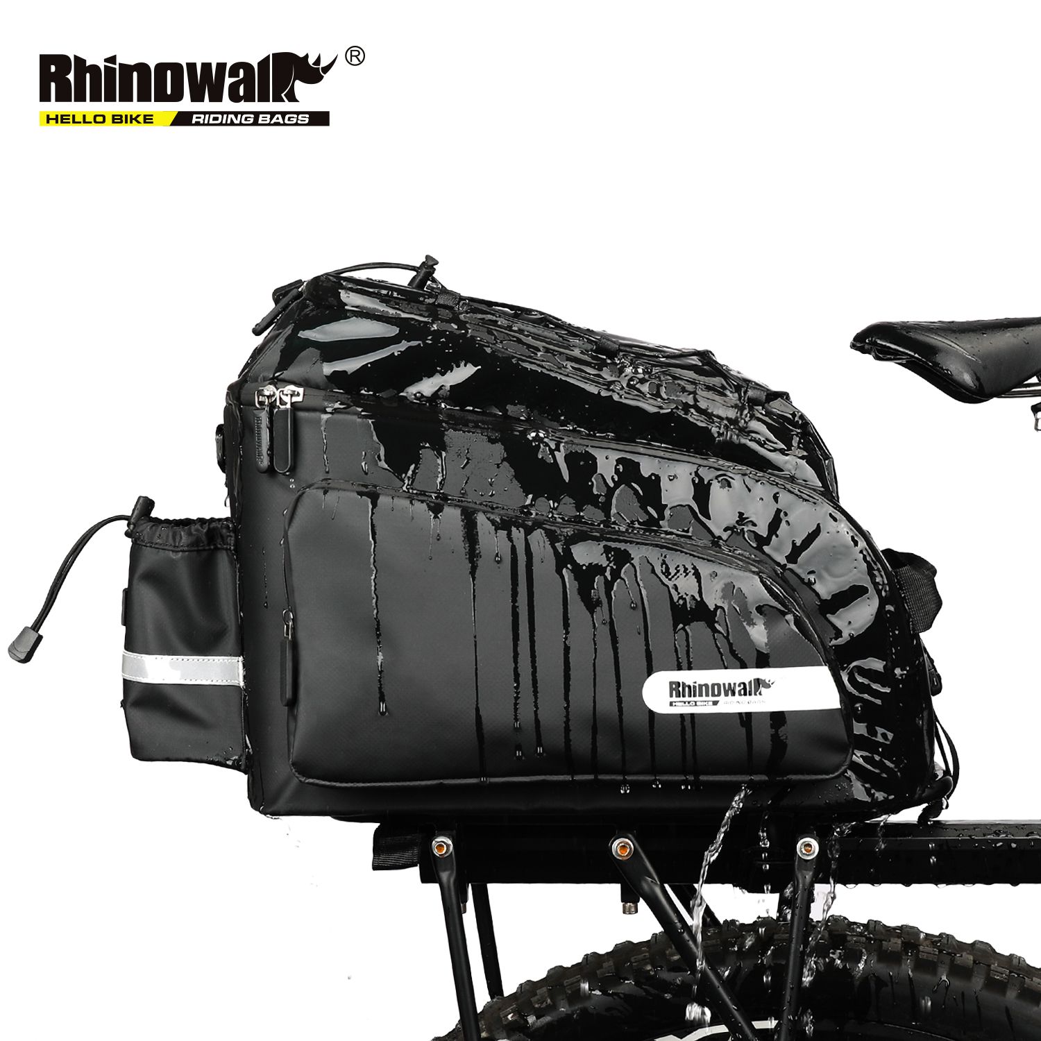 Rhinowalk Rainproof Bicycle Luggage Bags Mountain Bike Rear Trunk Pannier for Cycling Travel Camera Storage Bag Multifunctional|Bicycle Bags & Panniers| |  - title=