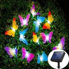 10/20/30 Led Lights Solar Led Light Outdoor Butterfly Fiber Optic Fairy Light Waterproof Garden Decoration Outdoor Solar Light