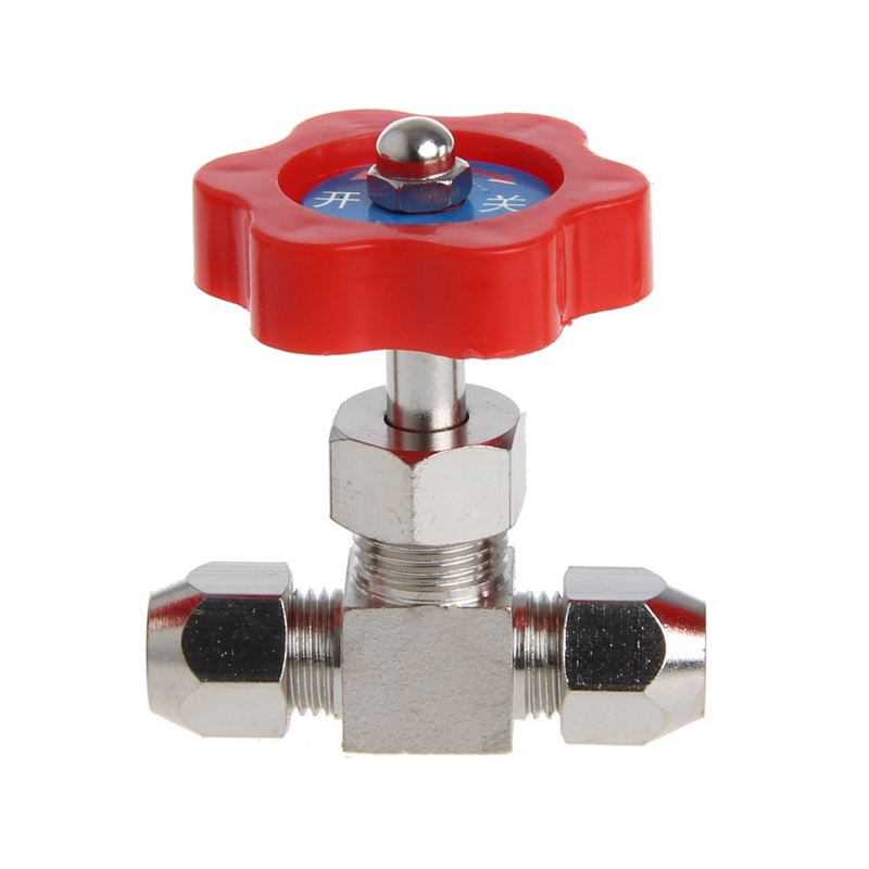 Durable Tube Nickel-Plated Brass Plug Needle Valve OD 6mm/8mm/10mm Drop Ship Support