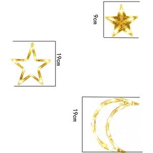 Image 5 - 220V Spina di UE Luna Star LED Tenda Luci Di Natale Fata Ghirlande Outdoor LED Scintillio Luci Della Stringa di Vacanze Decorazione di Festival