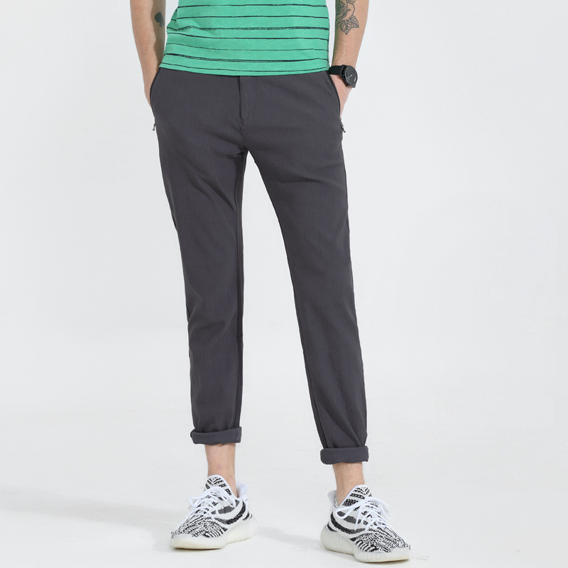 New Style Four Seasons Japanese Korean MEN'S Casual Trousers Four Sides Ultra-stretch Social Simple Slim Fit Skinny Pants