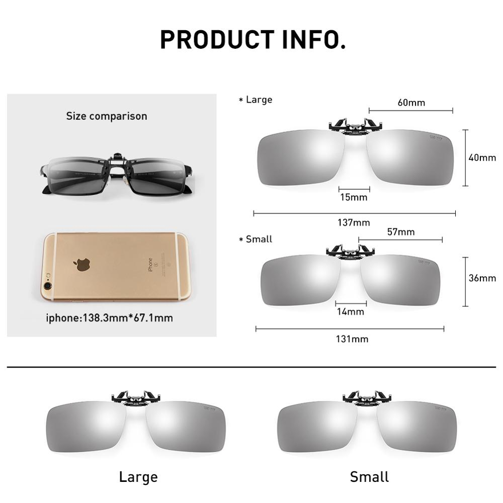 Image 5 - CAPONI Sunglasses Clip Men Photochromic Polarized Vintage Day And Night Eye Glasses Clip UV400 Protect Driving Eyewear BS1101Mens Sunglasses   -