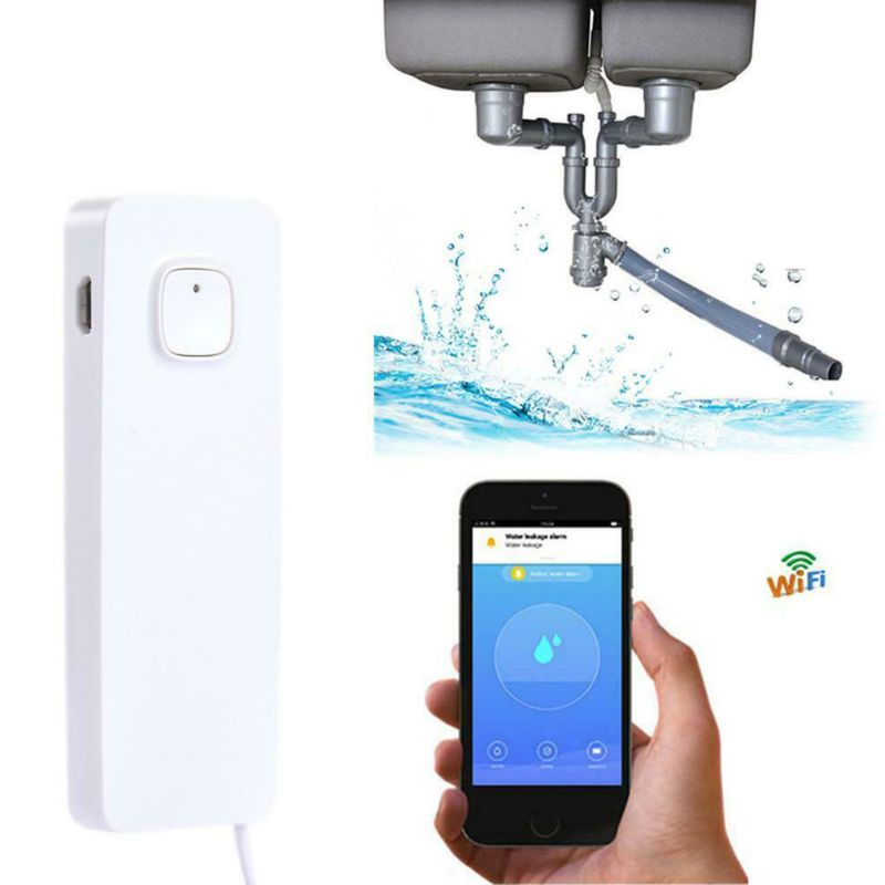 2.4GHz Smart Water Sensor Wireless WiFi Flood Sensor Alarm System Leak Detector For Home Office Use Supplies J6PB