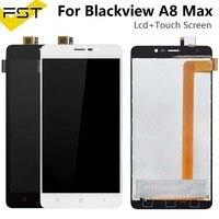 Czarny/biały dla Blackview A8 Max wyświetlacz LCD + ekran dotykowy 5.5 calowy ekran dla Blackview A8 Max Digitizer montaż z narzędziami w Ekrany LCD do tel. komórkowych od Telefony komórkowe i telekomunikacja na