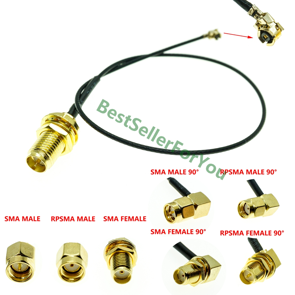 U.FL/IPX IPEX UFL To RP-SMA SMA Female Male Antenna WiFi Pigtail Cable Ufl Ipex 1.13mm Pick Your Length
