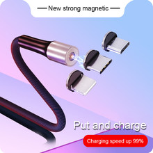 1M Magnetic Cable For iPhone X XS Fast Charging Micro USB Charge Cord USB Cable Type C USB C Charger Wire Cabo For Samsung S8 S9(China)