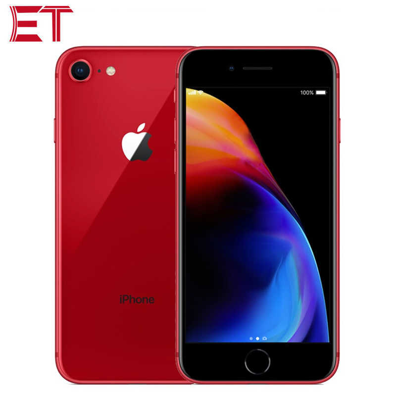 "T-versão móvel original apple iphone 8 a1905 telefone móvel 4.7 ""12mp 2 gb ram 64 gb/256 gb rom a11 nfc 3d toque ios11 telefone inteligente"