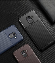 Carbon Fiber Case Voor Samsung Galaxy A60 A10E Note 10 Pro A10S A20S M30S A90S 5G A70S Luxe Carbon fiber Cover Coque Case(China)