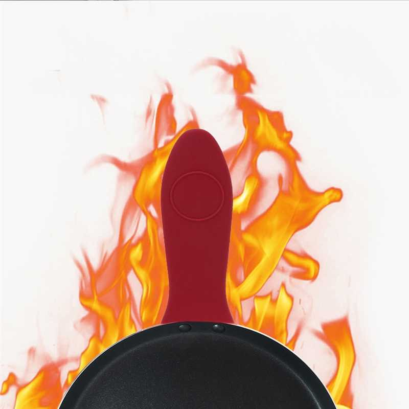 החלקה סיליקון ידית מחזיק כלי בישול חלקי Potholder יצוק ברזל מחבת אחיזת שרוול כיסוי סירי מחבתות ידית חלקי
