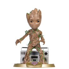 GrootGuardian of the Galaxy Baby Teen Action Figure Flower Pot Tree Man with Radio Music Box Heroes Groote Doll Model Toy Gift guardians of the galaxy 2 dj baby dancing tree man statue resin action figure collectible model decoration toy party supplies
