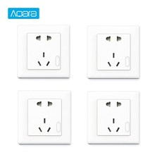 Aqara Smart Wall Socket ZigBee Wireless Wall Outlet Mijia Wall Socket Switch Work For Xiaomi Smart Home Kits APP xiaomi mijia smart plug socket enhanced dual usb fast charger zigbee basic socket no usb wireless wifi mi home app control
