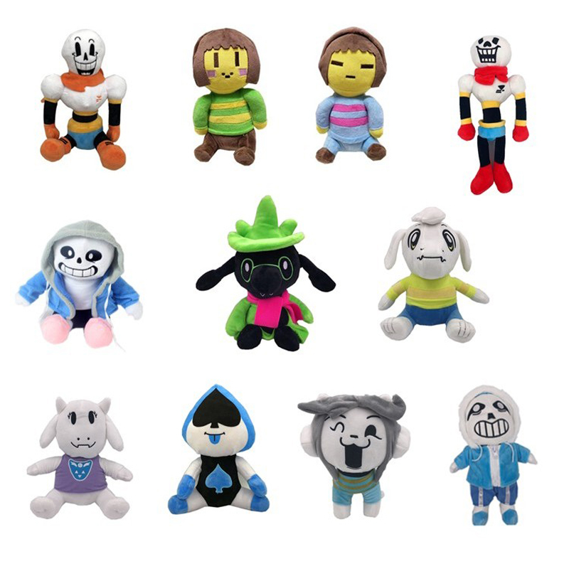 11 Styles Undertale Plush Toy Doll  Sans Frisk Chara Asriel Lancer Temmie Toriel  Stuffed Toys Birthday For Children Kids Gifts