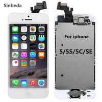 AAA LCD Screen Display For iPhone 5 5s 5c LCD Touch Screen Digitizer Assembly+Home Button +Front Camera+Ear Speaker Full Screen