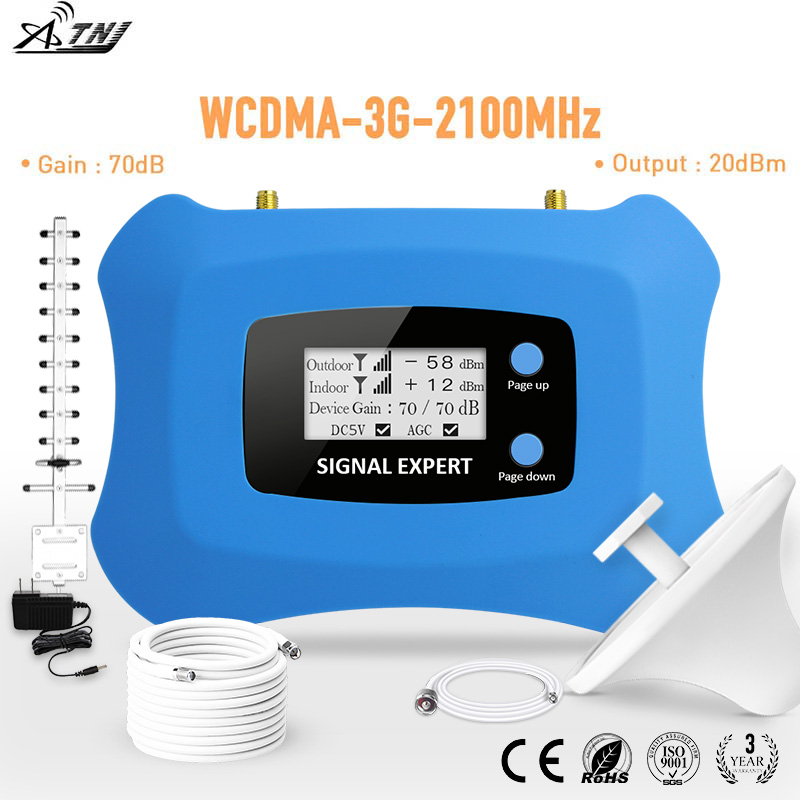 2020 Powerful WCDMA 3G Mobile Signal Booster 3g Cellular Signal Amplifier 3G Repeater Kit With AGC&ALC Intelligent Function