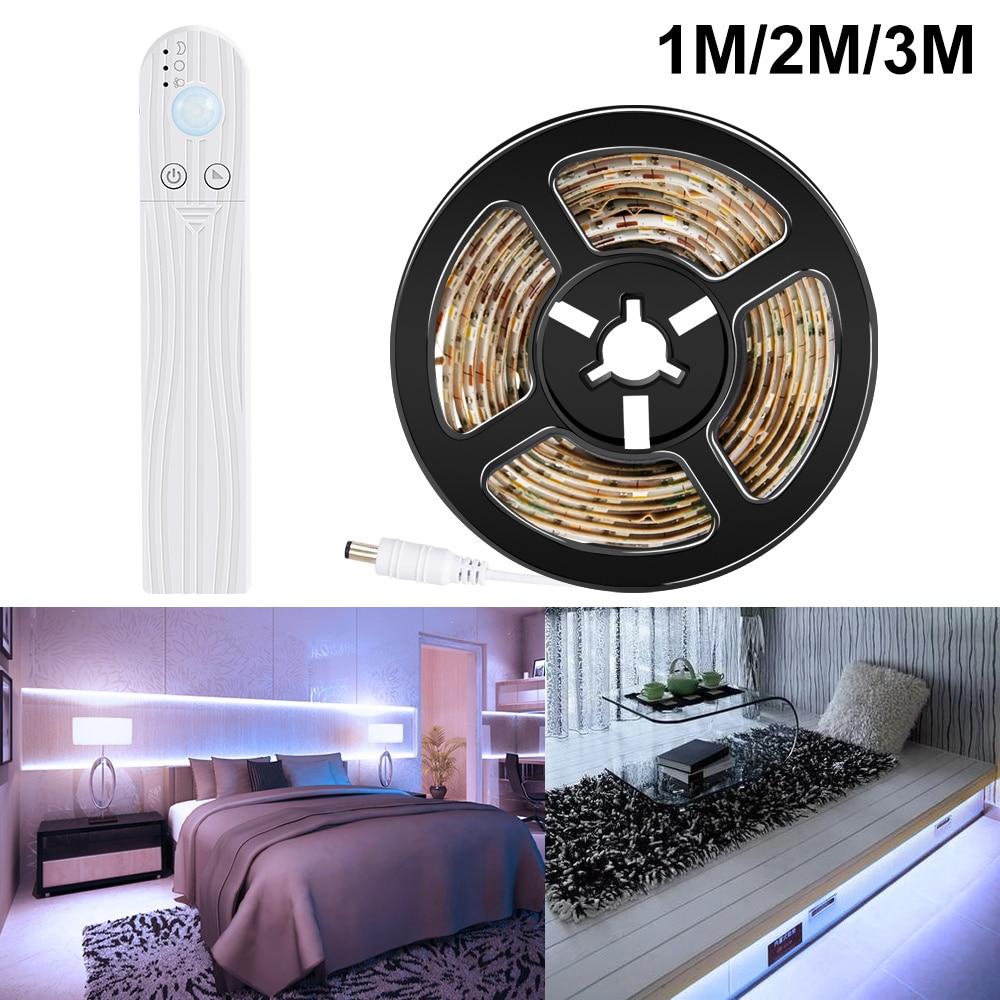 Led Motion Sensor Cabinet Light Strip Switch Night Light DIY Closet Kitchen PIR Wardrobe Lamp Wireless Lights Led Bedroom Light 3