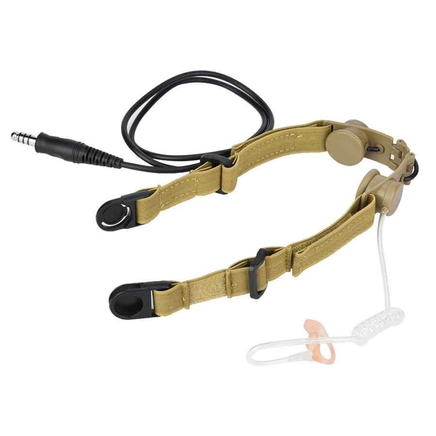 חיצוני ציד טקטיקות גרון מיקרופון מתאם עבור טקטיקות בלש אוזניות נגד רעש אוזניות לשימוש חיצוני ציד אבזר