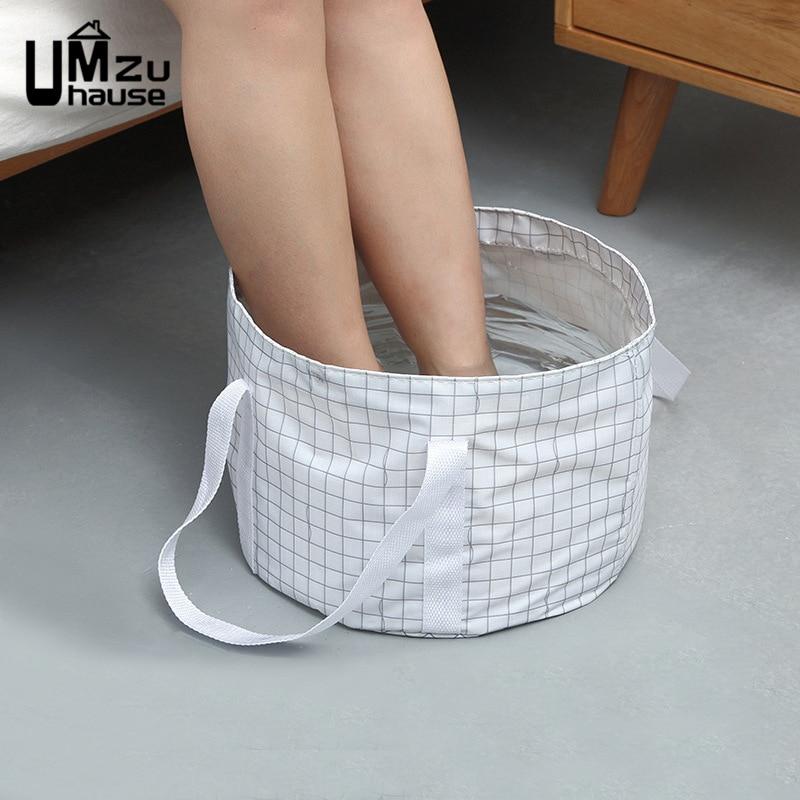 Foldable Foot Bathing Bucket Washing Footbath Massage Basins Collapsible Bathtubs Travel Portable Wash Holder Bathroom Household