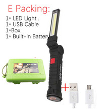 USB Rechargeable With Built-in Battery Set Multi Function Folding Work Light COB LED Camping Torch Flashlight cheap LELITEN CN(Origin) Shock Resistant Self Defense Hard Light Non-adjustable 50-100 m 2-4 files lighting Black High Middle Low