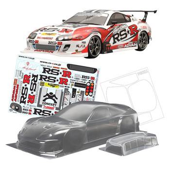 TeamC Toyota Supra 2000 PC Clear Body Shell 258MM Wheelbase For 1/10 Rc Drift Cars Flat Running Electric car image