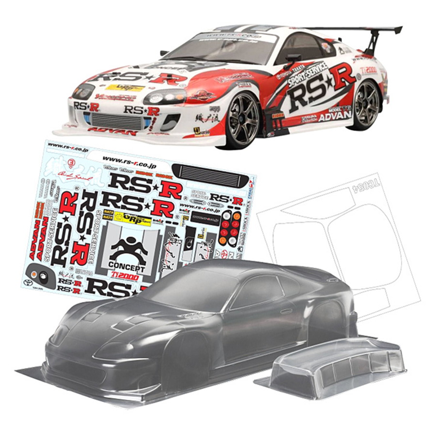 TeamC Toyota Supra 2000 PC Clear <font><b>Body</b></font> <font><b>Shell</b></font> 258MM Wheelbase For <font><b>1/10</b></font> <font><b>Rc</b></font> Drift <font><b>Cars</b></font> Flat Running Electric <font><b>car</b></font> image