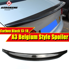 Fit For Audi A3 A3Q Carbon Rear Spoiler Belgium Style Carbon rear spoiler Rear trunk Boot Lip wing car styling Decoration 13-in a3 rear trunk spoiler wing lip small aev style carbon fiber for a3 a3q auto air rear trunk spoiler tail wing car styling 2013 in
