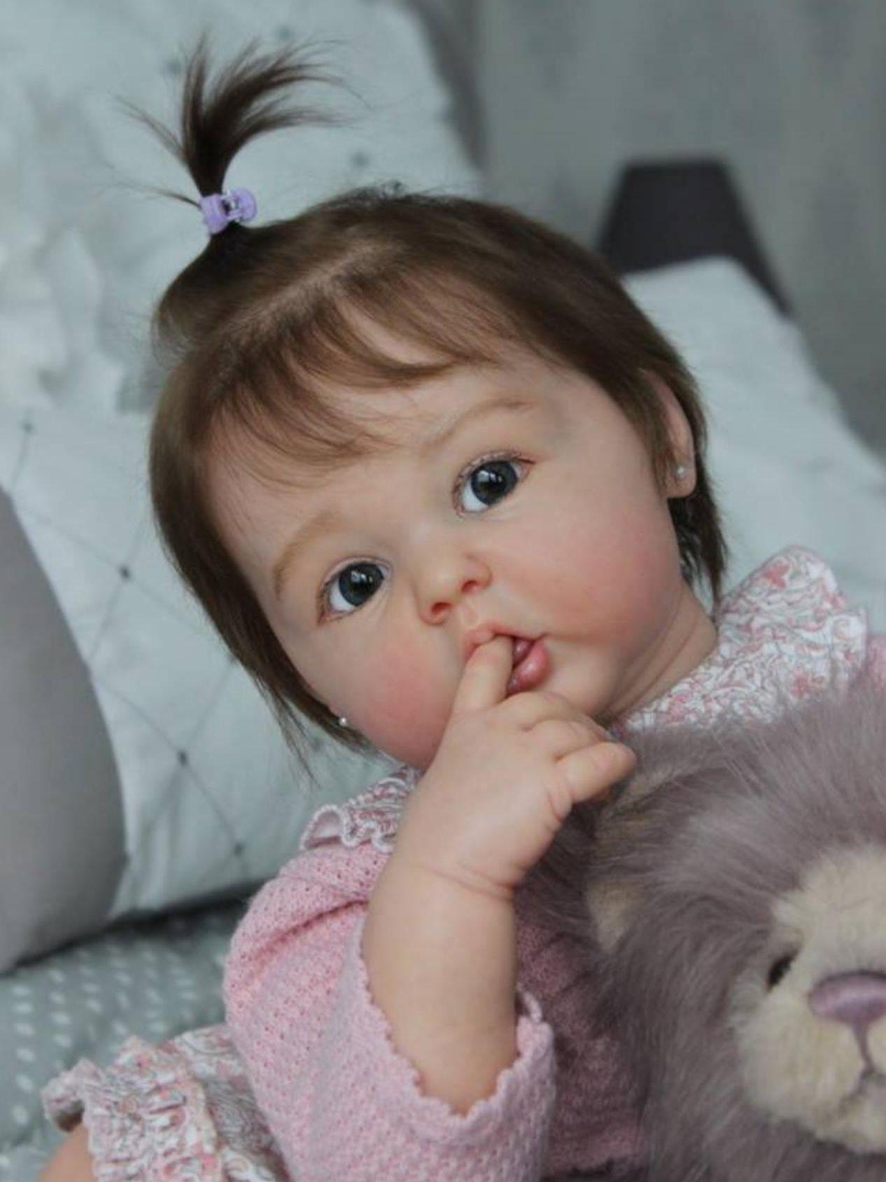 24 zoll Reborn Baby Zubehör DIY Erin Blank Kit 60 CM Prinzessin Kleinkind Frische Farbe Soft Touch Unfinished Puppe Teil