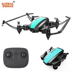 Global Drone GW125 Mini Drone Quadrocopter 2.4G 4CH helikopter rc Micro kieszonkowy składany Dron dla dziecięce zabawki dla chłopców w Helikoptery RC od Zabawki i hobby na
