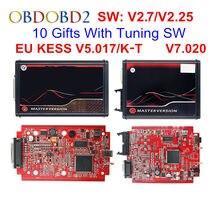 Em linha da ue vermelho kess 5.017 mestre completo obd2 gerente tuning kess v5.017 4 led K-T v7.020 bdm quadro K-T 7.020 ecu chip