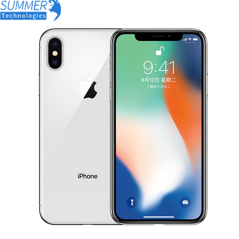 Original Unlocked Apple Used IPhone X A11 IOS Hexa Core ROM 3GB RAM 64/256GB Dual Rear Camera 12MP 5.8