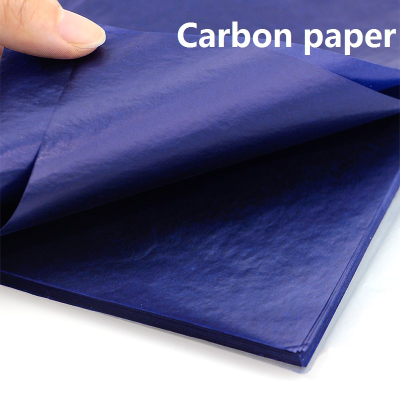 16K 97 Sheets Blue Color 3 Red Double Sided Carbon Paper 255x185mm Office Accounting Copy Paper File Bills Document Receipt 9375