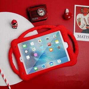 Image 3 - Do iPada 10.2 2019 2020 etui silikonowe, odporne na wstrząsy dzieci nietoksyczne etui z podstawką dla dzieci do iPada 7th 8th Generation Kickstand Shell