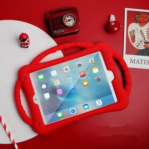 Image 3 - Ipad 10.2 2019 2020 케이스 실리콘 충격 방지 어린이 무독성 어린이 스탠드 커버 ipad 7th 8th generation kickstand shell