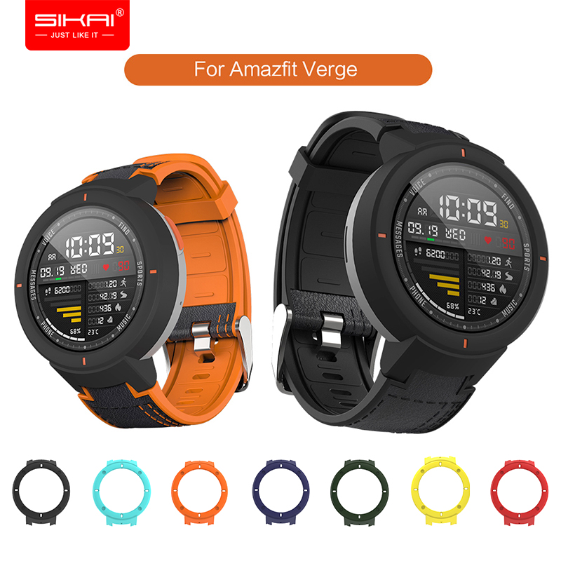 Smart Watch <font><b>Strap</b></font> for <font><b>Amazfit</b></font> Verge Xiaomi Huami 3 <font><b>lite</b></font> Silicone band replacement bracelet and Case SIKAI Protective PC Cover image