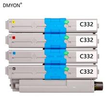 DMYON Toner Cartridge Compatible for OKI C332 MC363 C332dn Printers Toner Cartridges Black and Color oki c332dn