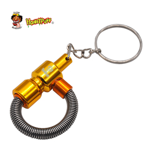 Image 5 - Honeypuff Metal Spring  Pipe Metal Portable Tobacco Pipe with Key Chain Cigarette Pipe  Accessories
